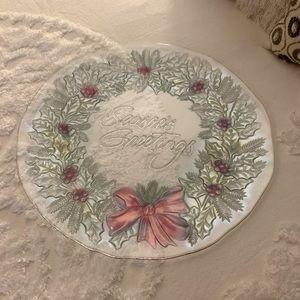 Gorgeous large Indiana Glass seasonal platter